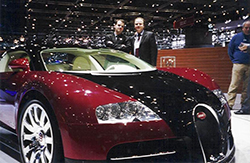 Bugatti stand at the Geneva Motor Show
